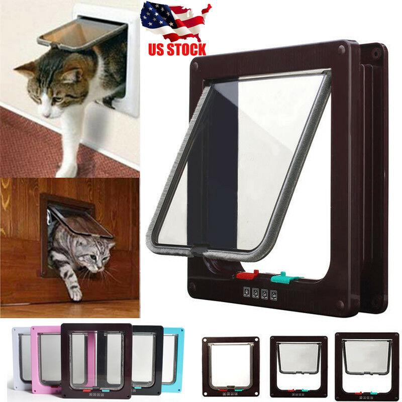 4 Colours Medium Small Large Pet Cat Puppy Door For Security Door And Screen