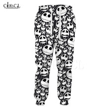 Christmas-Trousers Hip-Hop-Pants Skull Printed Casual Things Fashion New 3D The Gym Before