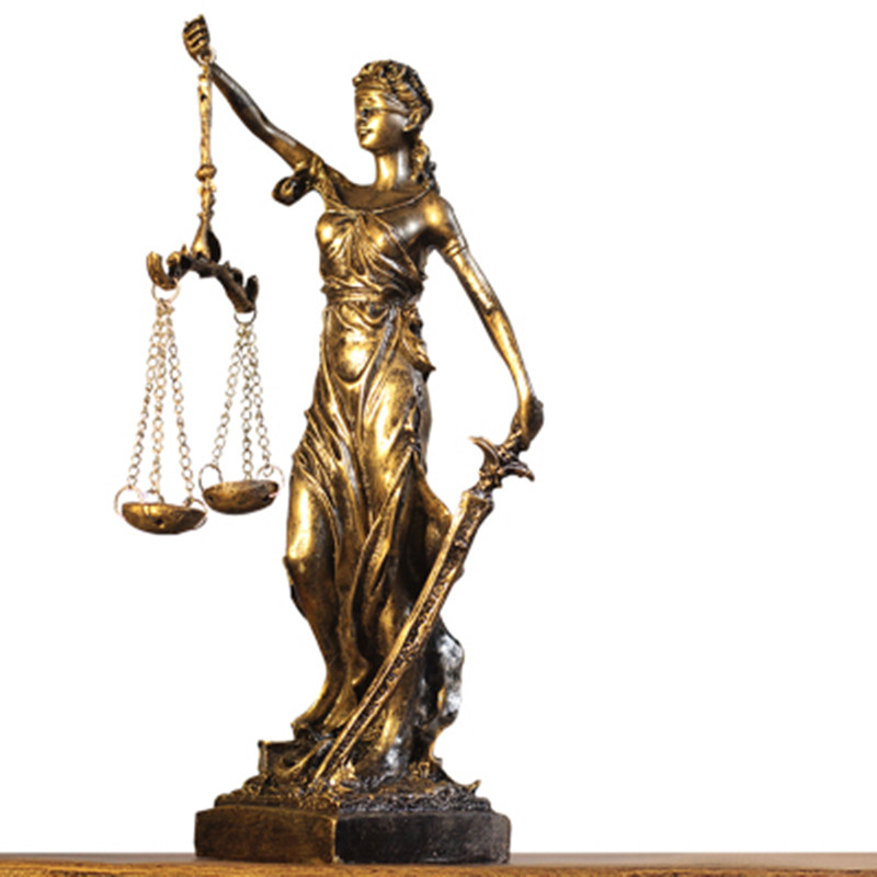 Greek Justice Goddess Statue/Fair Angels Resin Sculpture,People Ornaments,Vintage Home Decoration Accessories,Office Crafts A510