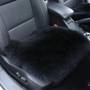 Image 5 - 100% Natural Fur Australian Sheepskin Car Seat Covers, Universal Wool Car Seat Cushion,Winter Warm Car Seat Cover