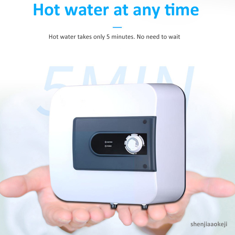 10L Mini Household Square Tank Electric Fast Hot Water Heater Heat Preservation Instant Induction Heating Boiler 1500W 220V
