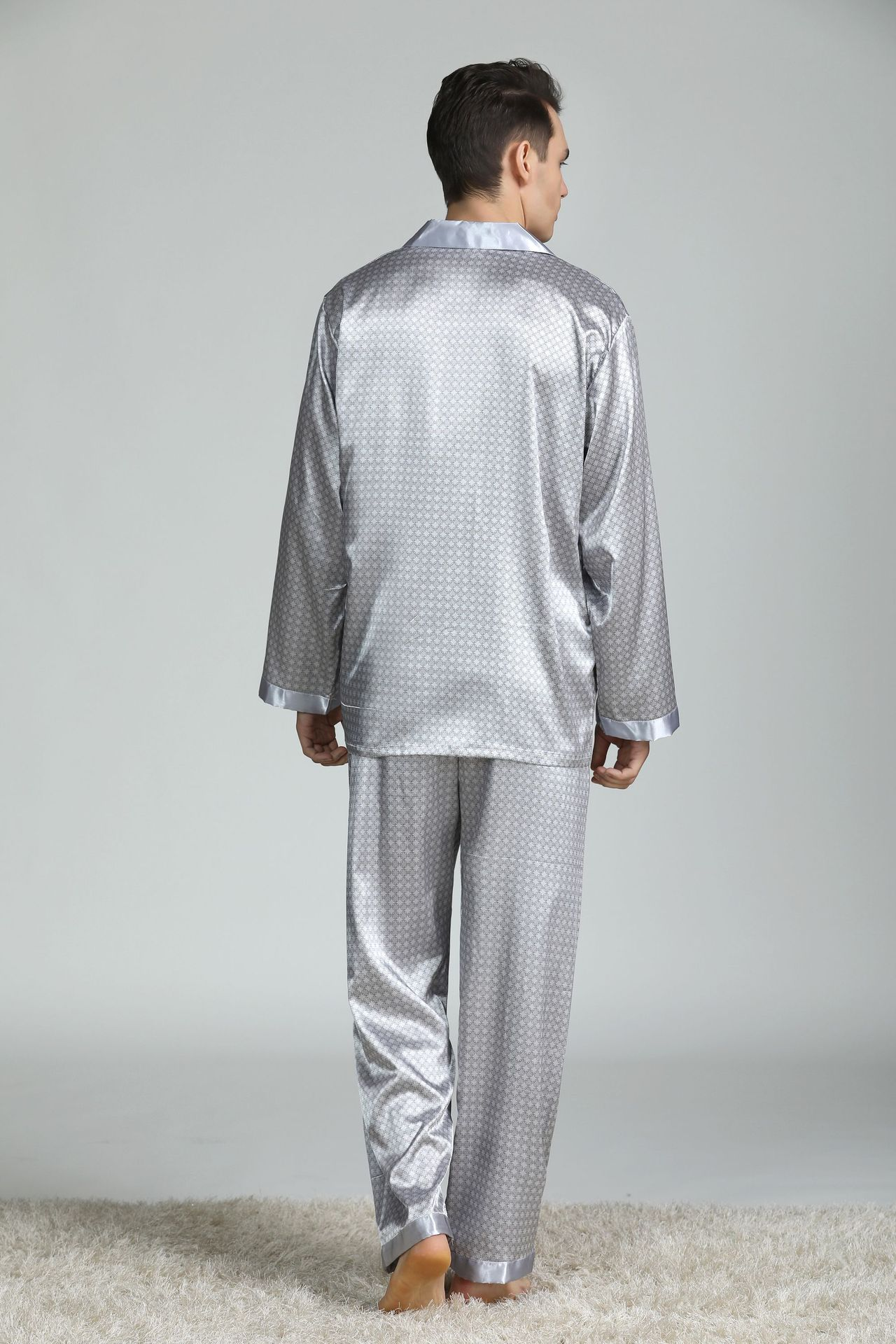 cozy macio manga longa camisola topos +