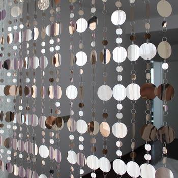 Geometric Sequined Design Curtain Stripes Set 1