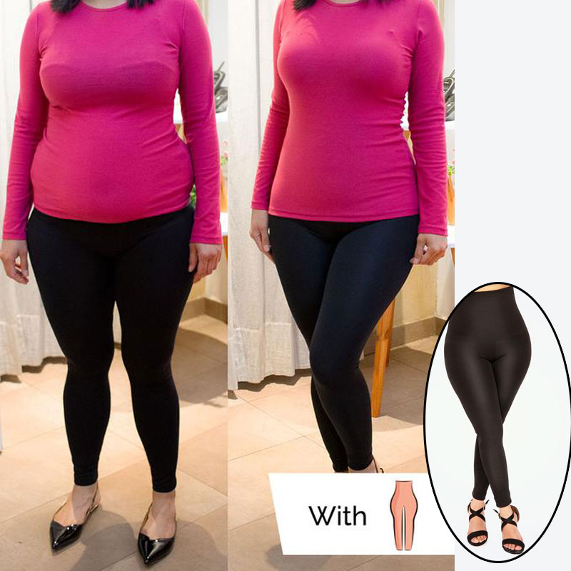 Seamless Plus Size High Waist Shaping Black Leggings For Women Fitness Push Up Leggings Stepping On Feet Leggins Mujer 2019