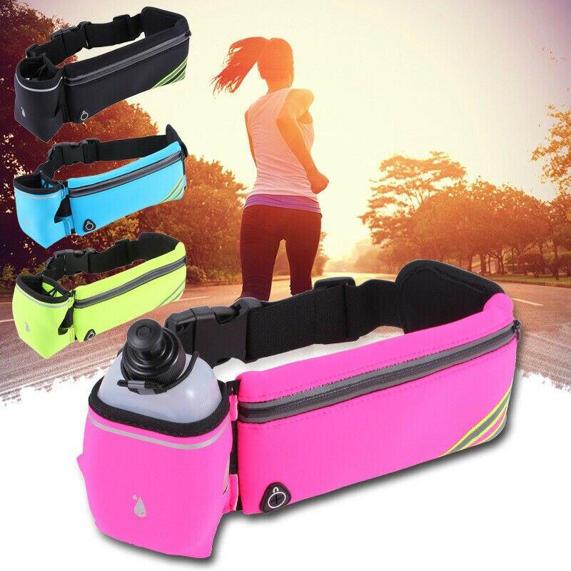 Waist Pack Fitness Water Bottle Waist Belt Bum Bag Running Jogging Marathon Pouch Outdoor Sport Bag /BL1
