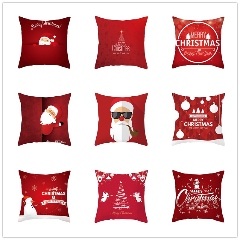 Merry Christmas Decorations for Home Christmas Gifts Cristmas Decor Noel Happy New Year 2021 Christmas Cushion Cover Home Decor