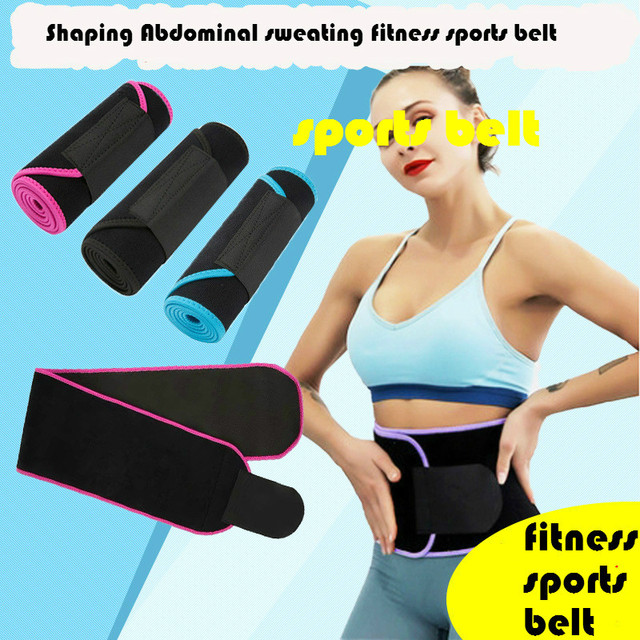 Fitness Sports Belt Sweating Abdomen Women Waist Shaping Men Training Belt Designer Fashion Ladies Belts High Quality Polyester 1