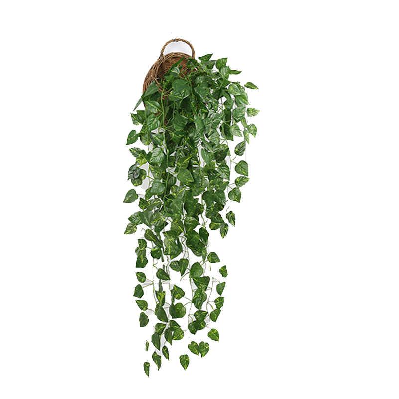 Newвиноградный лист, искусственные цветы, Зеленый лист, подвесной венок из виноградных листьев, искусственный цветок для стены, украшение для дома, украшение для балкона