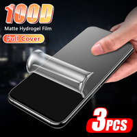3PCS 100D pellicola salvaschermo a copertura totale per iPhone 12 11 Pro Max 12 Mini XR XS 5s 7 8 6 Plus SE 2020 pellicola idrogel opaca non in vetro