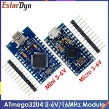 Pro micro com o bootloader azul mini atmega32u4 5v/16mhz módulo controlador mega32u4 leonardo para arduino