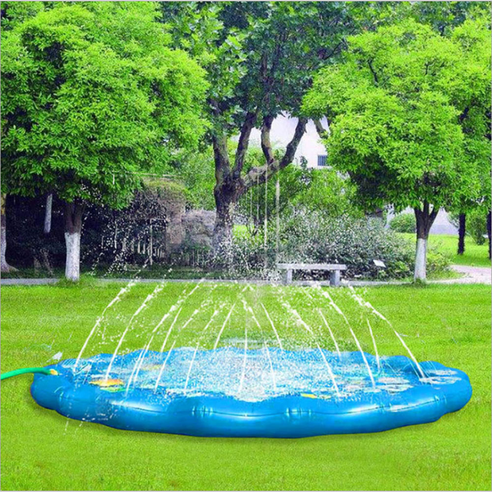 170/100cm Outdoor PVC Spray Water Cushion Baby Kids Play Water Mat Lawn Sprinkler Pad Children Play Water Mat Games Beach Pad