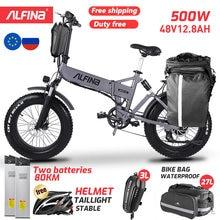 Alfina FX-21 Nieuwe Elektrische Fiets Vouwen Sneeuw Mountainbike 20Inch 4.0 Fat Tire Ebike Strand Bicicleta Eletrica 500W 40 Km/h