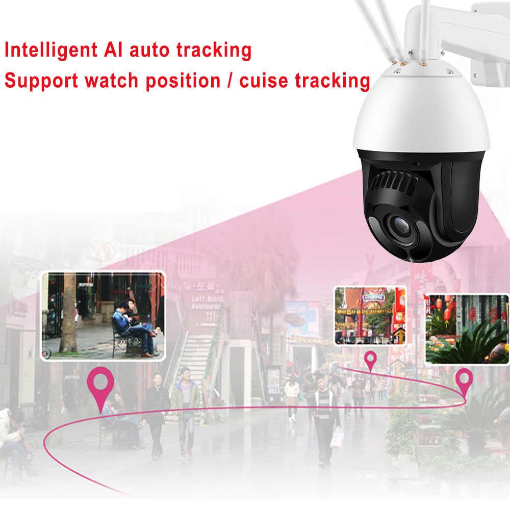 H.265 AI гуманоид оповещение плавное автоматическое отслеживание 3g 4G PTZ камера SONY307 Starlight IR200M скорость купольная Беспроводная ip-камера 22X зум в