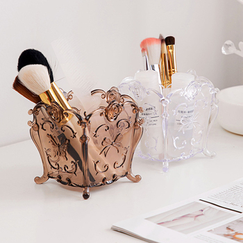 Kreative Retro Geschnitzt Kosmetik Lagerung Box Desktop Kunststoff Finishing Box Dressing Tisch Make-up Pinsel Lagerung Box Mx01241450