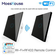 Transmitter Remote-Control-Switch Wifi Alexa Smart Google Home with RF433 Glass-Panel