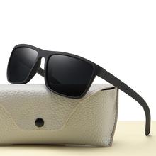 Higodoy Vintage Sports Style Polarized Sunglasses Men Black Driving Square Sunglass Shades for Women Luxury Brand Sun Glasses cheap Goggle Adult Plastic Mirror UV400 48mm Resin h7605 65mm