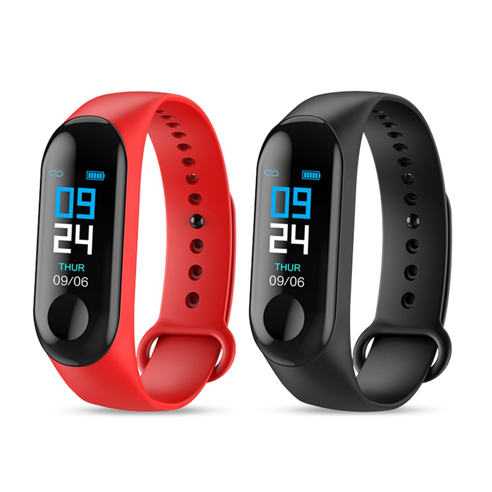 M3 Smart Bracelet IPS Screen Waterproof Heart Rate Monitoring Blood Pressure Tracker For Men Women Spaot Wristbnad Hot