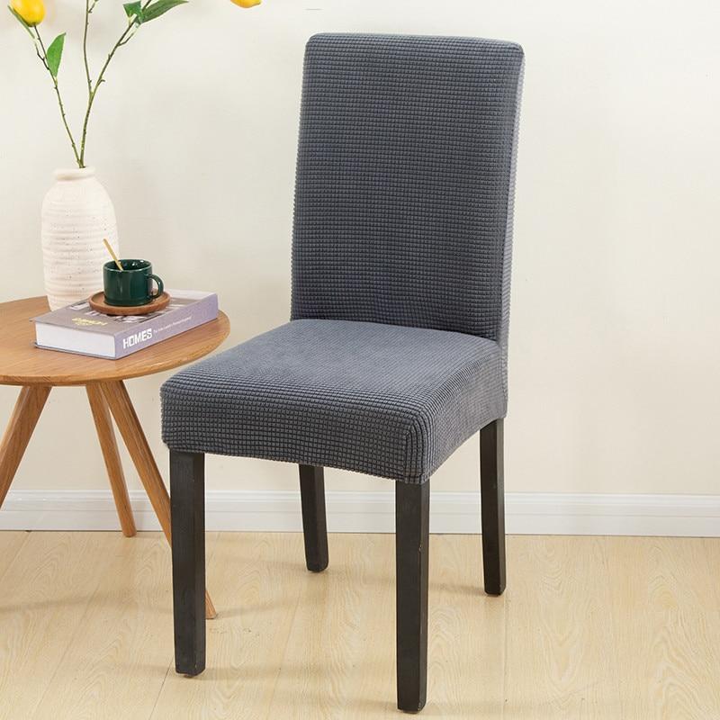 Fundas de LICRA lisas Jacquard para silla, 1 unidad, funda elástica para silla, comedor, boda, Hotel, banquete