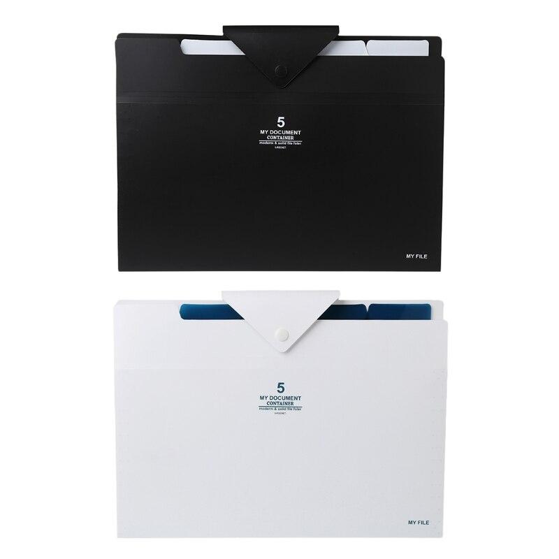 5 Layer Expanding File Folder Organ Bag A4 Organizer Paper Hold Document Folder X6HB