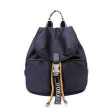 Designer de luxo mochila feminina bolsa ombro senhoras marca original bolsa viagem volta pacote náilon à prova dnylon água bagpack escola