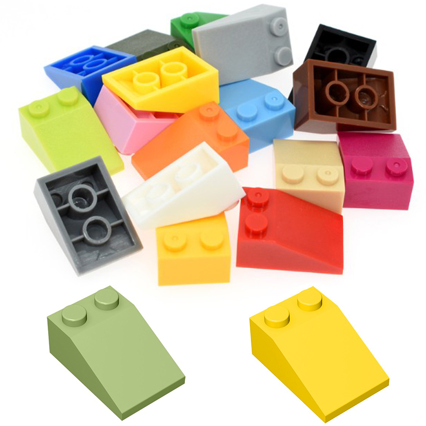 20pcs/50pcs Block Bulk Diy Toy Slope 33 2x3 Building Blocks MOC Parts Assembles Particles Bricks Parts Educational Creative Toys