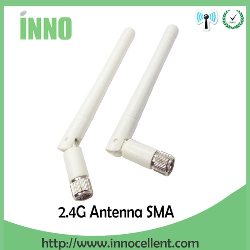 2pcs 2.4GHz Antenna WIFI SMA Male Connector 3dbi Aerial 2.4g Antena Wi Fi Antenne White For Wireless Wi-fi Router Antenas