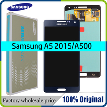 Ban đầu Super AMOLED LCD dành cho SAMSUNG Galaxy SAMSUNG Galaxy A5 2015 A500FU A500 A500F A500M Màn Hình Hiển Thị Màn Hình Cảm Ứng Thay Thế Bộ Số Hóa