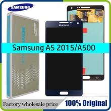 Originele super AMOLED LCD voor SAMSUNG Galaxy A5 2015 A500FU A500 A500F A500M Display Touch Screen Vervanging Digitizer