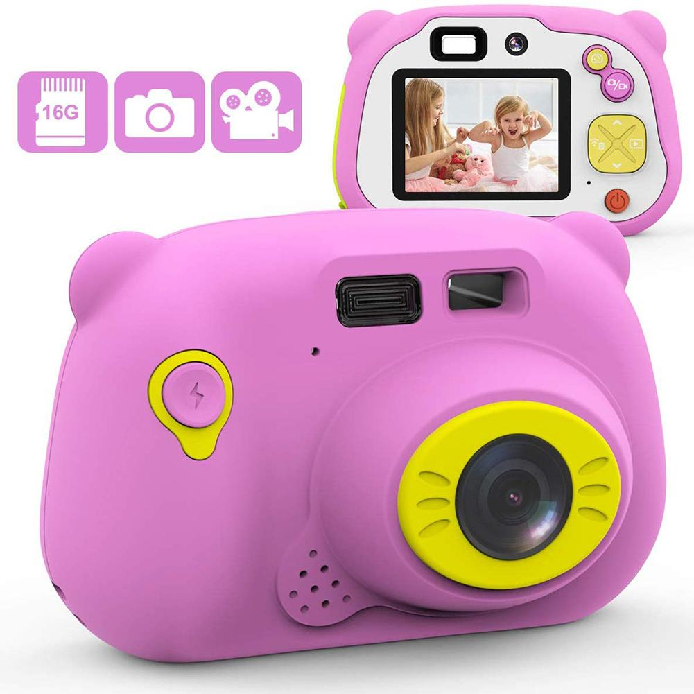 2 Inches Color LCD Display Children's Camera Toy Digital High-Definition Kids Photography Toy Gift For Children 3-12 Years Old