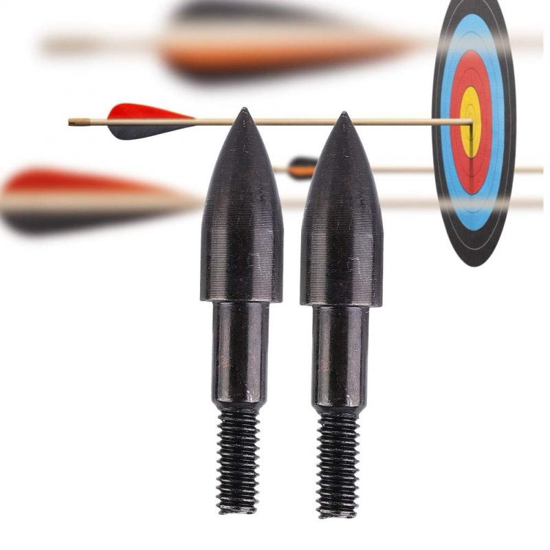 High Quality Steel 1pcs Black Screw Broadheads Arrow Head  And Compound Bow Arrows For Archery Hunting