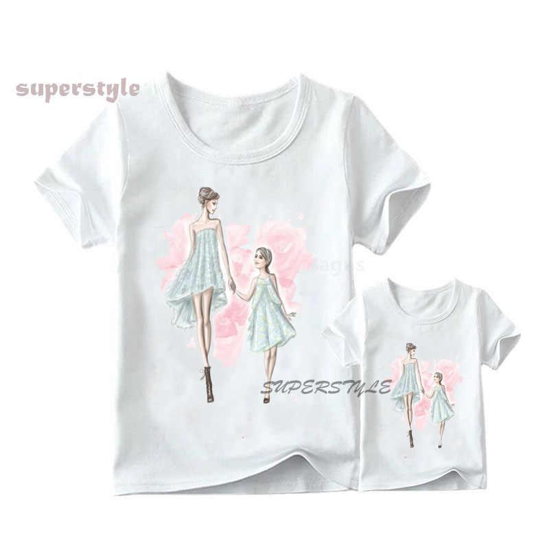 Lato 2020 koreański moda pasujące rodzinne stroje Vogue T-shirt matka miłość dzieci T Shirt Super Mama koszulka damska, dHKP180