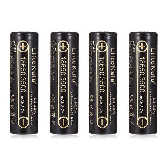4 個 100% オリジナルliitokala Lii 35A 3.7v 18650 バッテリー 3500mah 10A放電充電式電池