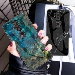 На Алиэкспресс купить стекло для смартфона marble tempered glass phone case for nokia x6 x7 9 x71 hard case for nokia 7.1 7 1 4.2 3.1 plus cover coque silicone capa
