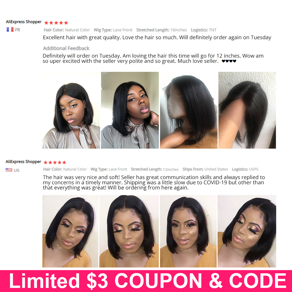 Straight Lace Closure Front Wig 5