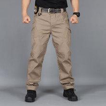 Miasto wojskowe taktyczne spodnie w stylu Cargo mężczyźni bojowe SWAT wojskowe spodnie militarne wielu kieszenie Stretch elastyczne mężczyzna spodnie typu Casual XXXL tanie tanio GUMPRUN Cargo pants CN (pochodzenie) Mieszkanie Poliester NONE REGULAR Pełnej długości 0609zlx006 Military Midweight