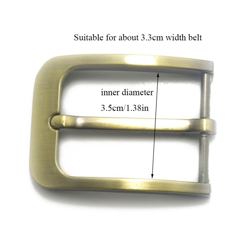 35mm Men's Solid Buckle Accessories Metal Pin Buckle Black Silver Bronze Fashion Waistband Buckles Belt DIY Leather Craft Buckle