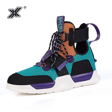 X Brand Fashion Colorful High top Men Sneakers Shoes for Couples