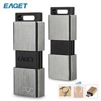 Eaget F90 yüksek hızlı USB 3.0 Metal Flash sürücü 16GB 32GB 64GB 128GB 256GB Pendrive usb flash sürücü toz geçirmez darbeye dayanıklı PC için