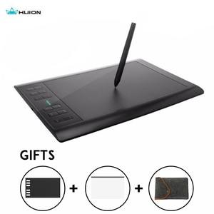 Huion Новинка 1060 плюс графический планшет 8192 уровней профессиональный 8 Гб USB цифровой чертеж планшеты анимация с подарками
