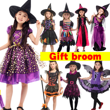 Halloween Fancy Fantasia Infant Witch Cosplay Costumes for Children Kids Costume Girls Bat clothes