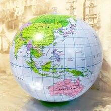 16 Polegada globo inflável mundo terra oceano mapa bola geografia aprendizagem educacional praia bola crianças geografia suprimentos educativos