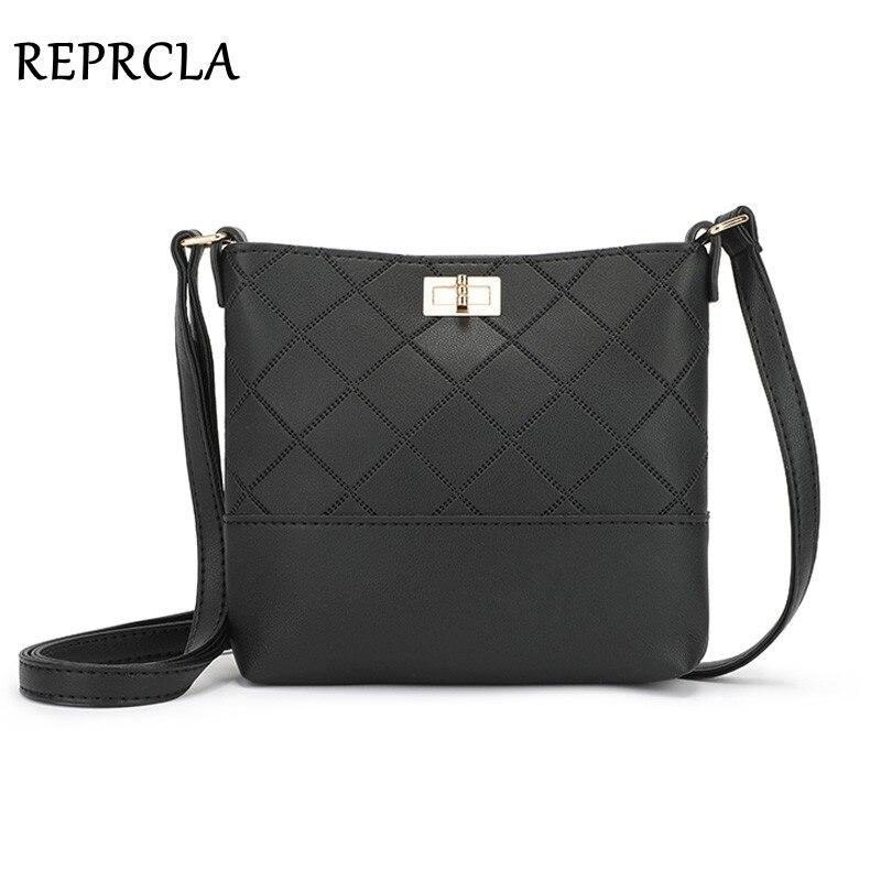 REPRCLA New Crossbody Bags For Women Handbag Designer Plaid Shoulder Bag PU Leather Women Messenger Bags Fashion Sac