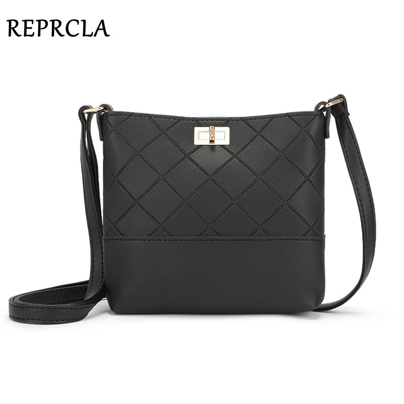 REPRCLA New Crossbody Bags For Women Handbag Designer Plaid Shoulder Bag PU Leather Women Messenger Bags Fashion Sac