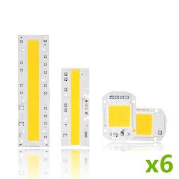 6Pcs Cob Led Lamp Chip 110V 220V High Power 10W 20W 30W 50W 100W 120W Input Smart IC No Driver LED Bulb Flood Light Spotlight цена 2017