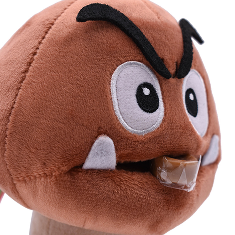 Anime Super Mario Bros Goomba  Kuribo Peluche Doll Plush Soft Stuffed Baby Toy Great Christmas Gift For Kids