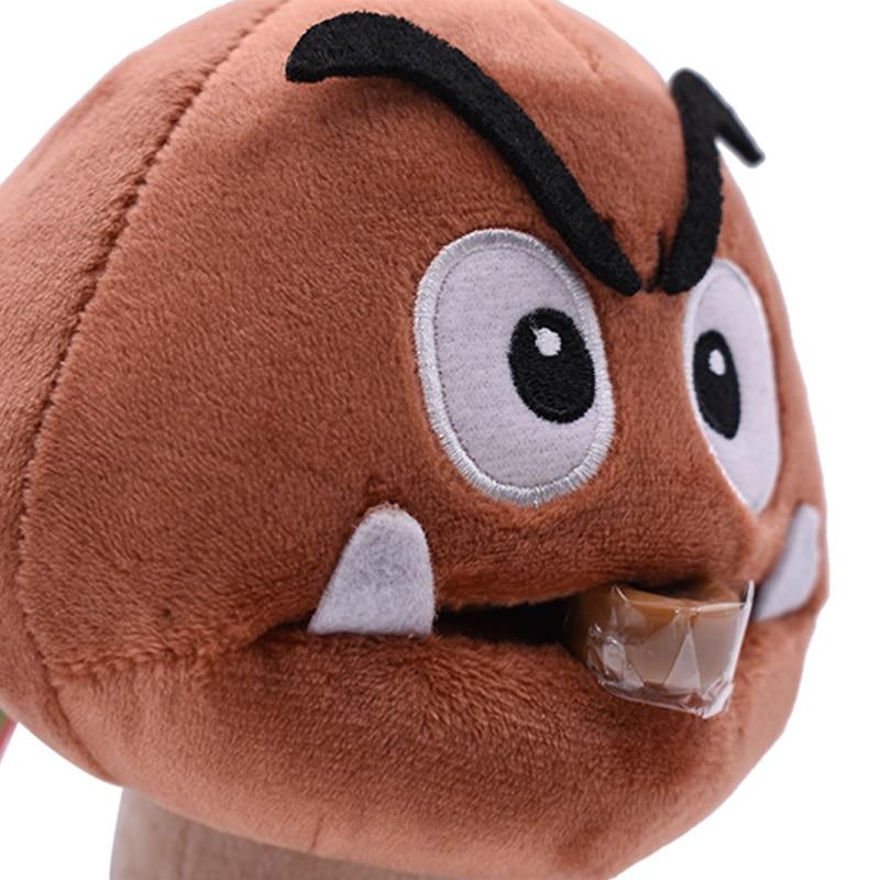Anime Super Mario Bros Goomba  Kuribo Peluche Doll Plush Soft Stuffed Baby Toy Great Christmas Gift For Kids