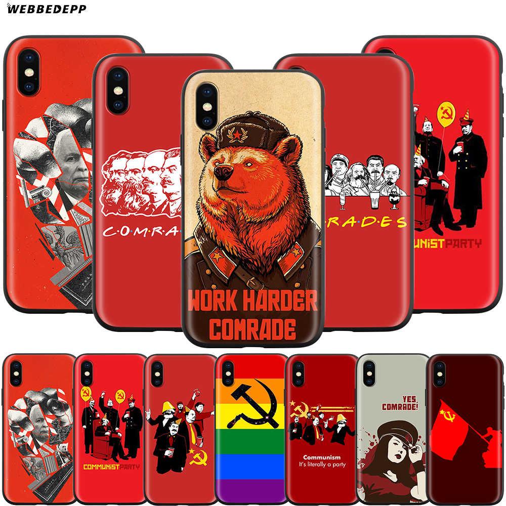 حافظة الأصدقاء الشيوعيين من Webbedepp لهواتف أبل آيفون 11 برو XS Max XR X 8 7 6 6S Plus 5 5s SE
