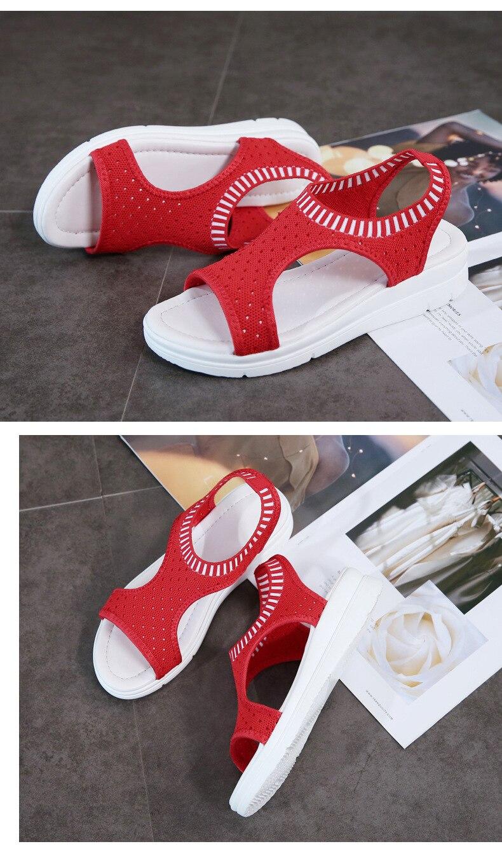 Hdd49692176a24a4dbd998a5df18fc640u WDZKN 2019 Sandals Women Summer Shoes Peep Toe Casual Flat Sandals Ladies Breathable Air Mesh Women Platform Sandals Sandalias