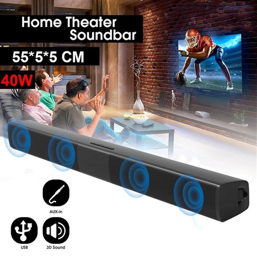 40W Portable Wireless Column Soundbar Sven Bluetooth Speaker Powerful 3D Music Sound bar Home Theater Aux 3.5mm TF For TV PC 6