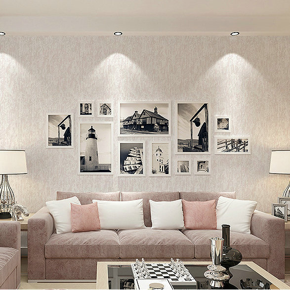 Living Room Bedroom Plain Color Wallpaper Modern Minimalist Non-woven Wallpaper Environmentally Friendly Wallpaper TV Backdrop 5